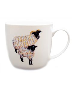 Richard Bramble Blackface Sheep Mug (medium round sided) end of line