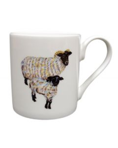 Richard Bramble Blackface Sheep Mug (medium straight sided)