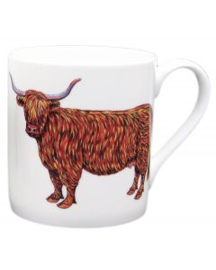Highland Cow and Belted Galloway Cow Mug by Richard Bramble