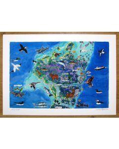 North Uist, Outer Hebrides Map Print by Richard Bramble