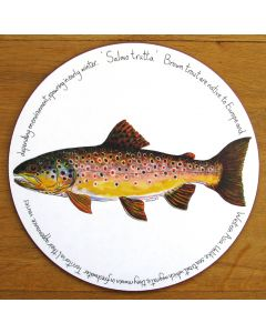 Brown Trout Tablemat by Richard Bramble