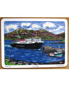 Lochmaddy Caledonian MacBrayne Ferry, North Uist, Outer Hebrides Tablemat by Richard Bramble