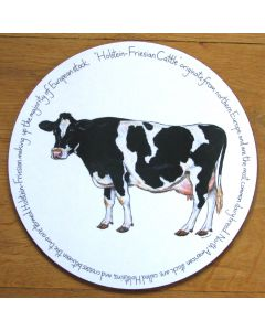 Holstein-Friesian Cow Tablemat by Richard Bramble