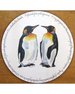King Penguin Tablemat, melamine, corked back, by Richard Bramble
