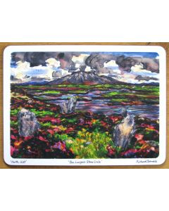 Ben Langass Stone Circle, North Uist, Outer Hebrides Tablemat by Richard Bramble