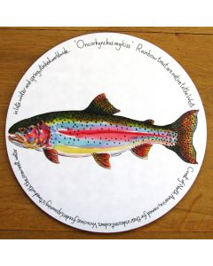 Rainbow Trout Tablemat by Richard Bramble