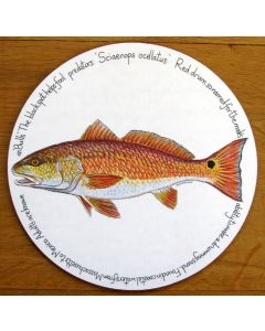 Red Drum Tablemat by Richard Bramble