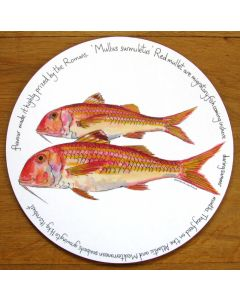 Red Mullet Tablemat by Richard Bramble