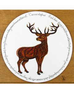 Stag Standing Tablemat by Richard Bramble