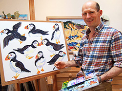 Richard Bramble with Puffing Painting